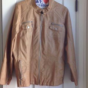 Jou Jou Vegan leather jacket XL